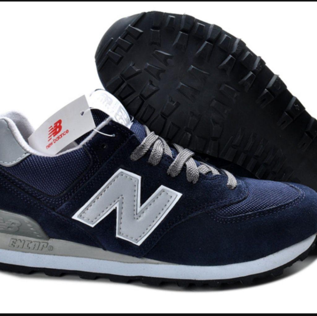 BNWT New Balance 574 Dark Blue Grey shoes as.10.5