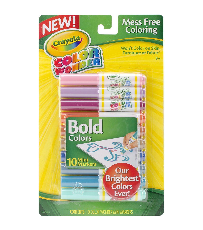 crayola Color Wonder Mini Markers Bold | Art | Pinterest | Markers ...