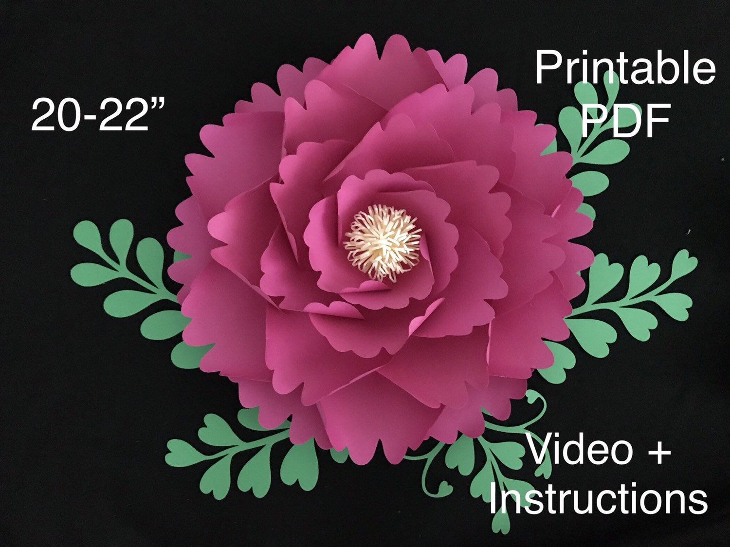 Printable Flowers For 3d Flowers Pdf Paper Flower Template