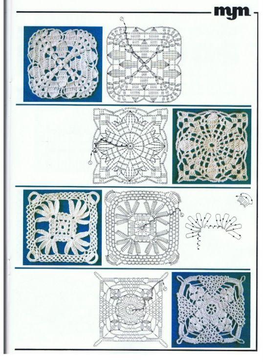 Gallery.ru / Фото #1 - Muestras y Motivos Seleccion 13 Puntos Crochet - tymannost