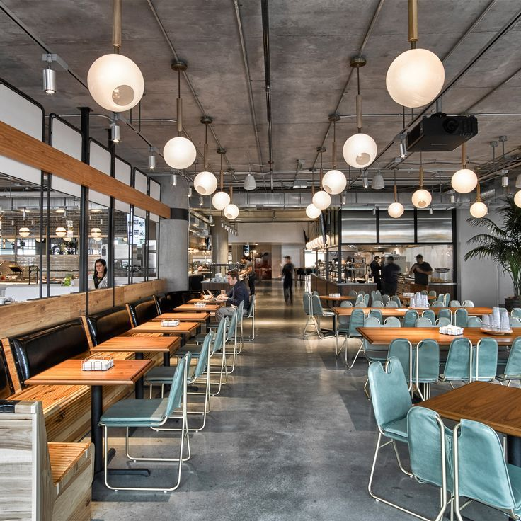 Dropbox opens industrialstyle cafeteria at California headquarters is part of Office cafeteria - US studio AvroKo has completed a coffee bar in tech company Dropbox's new San Francisco offices, creating  place of comfort  to keep employees in the office