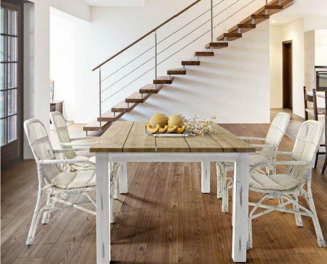 Mesa comedor exteriores estructura madera Keruing teca muebles