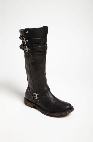 Ugg Gillespie Boot In Black Boots Biker Boot Buckle