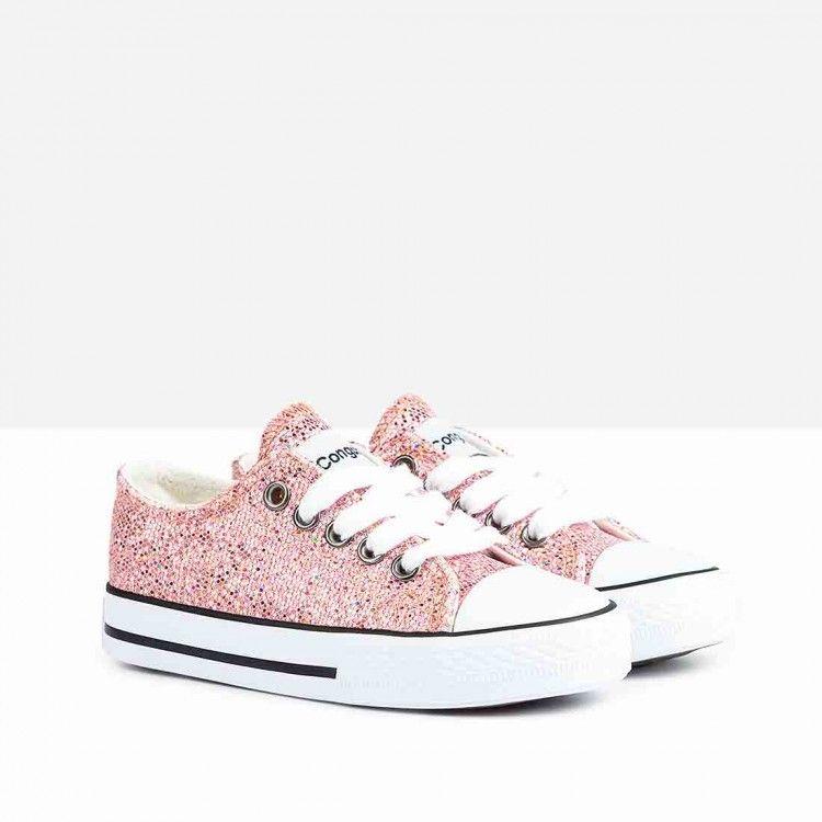 a6d5a0e11a3e8 Zapatillas de Niña Glitter Rosa - Calzado - Niña - Conguitos  conguitos   niña  shoes  collection  ss18  zapatillas  glitter  rosa