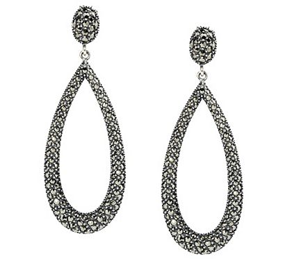 Marcasite has been a popular and attractive addition to jewelry designs since the Victorian era. These sterling silver drop earrings combine old-world appeal with a modern shape for a look that's of the moment. QVC.com