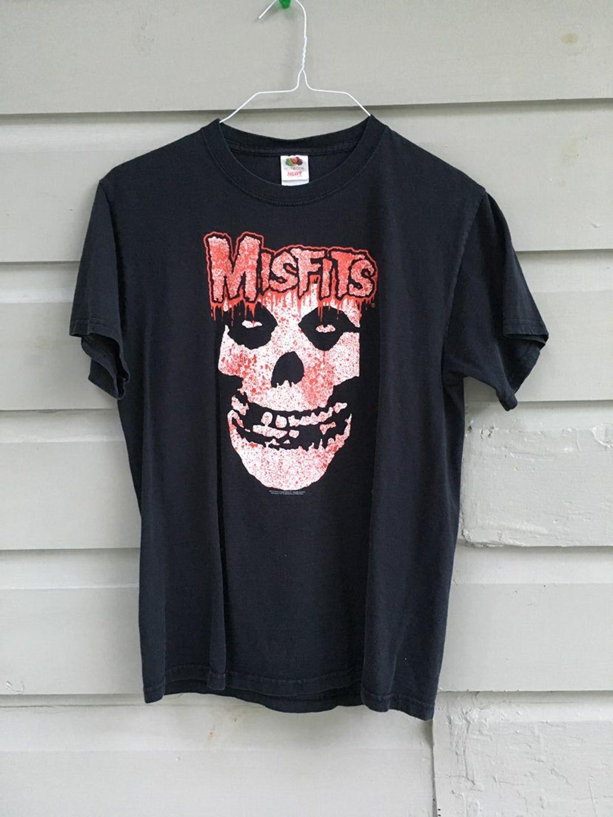 Misfits Splatter Licensed Adult Heather T-Shirt