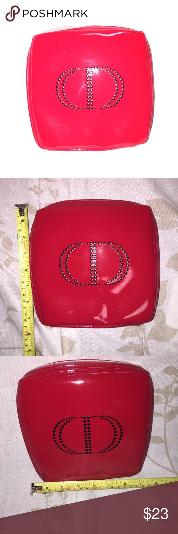 NWOT Dior Beauté 💅 Red Cosmetics Makeup Bag💄 Bags, Dior