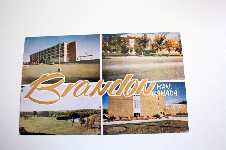 Items similar to Brandon Manitoba Postcard / Vintage