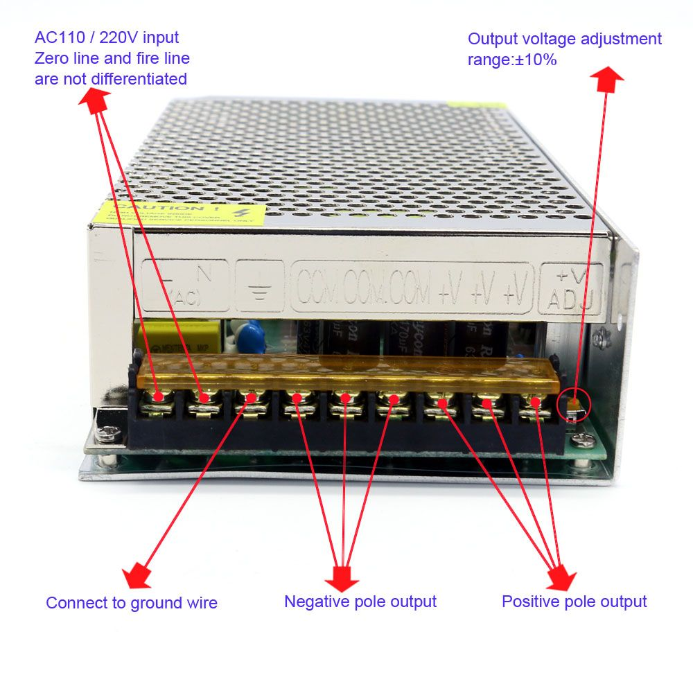 professional switching power supply transformer ac 110 220v to dc 42v 6a 250w for the [ 1000 x 1000 Pixel ]