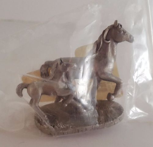Horse & Colt Statuette; Miniature; Pewter by Spoontiques; Unopened in Collectibles, Animals, Horses: Merch. & Memorabilia, Figurines | eBay