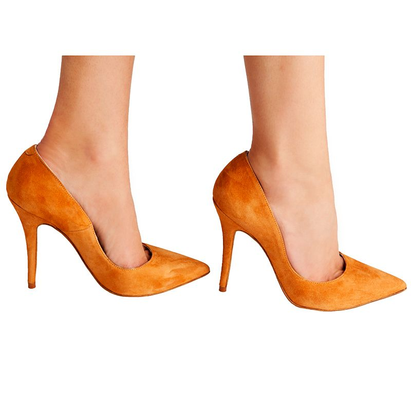 Zapatos de salón stilettos Berta ante marrón Mas34 www.mas34shop.com