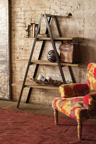Folding Metal A Frame Shelving Unit With 3 Wooden Shelves 795 00 Modern Industrial Furniture Industrial Furniture Decor Decor