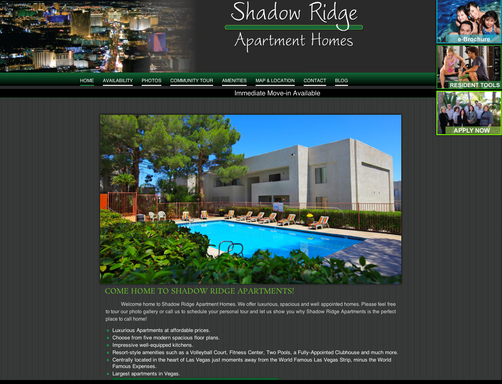 Website Designed by Jeff Shadow Ridge Apartments • 3200