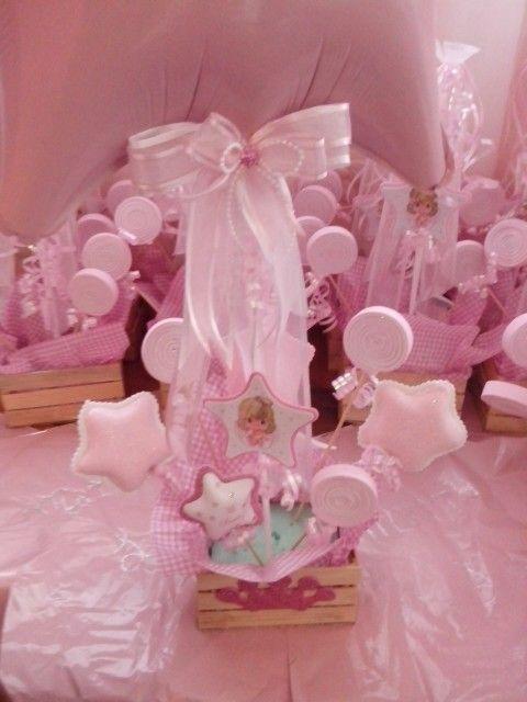Arreglo de mesa para bautizo cumplea os pinterest for Mesa de dulces para bautizo de nina