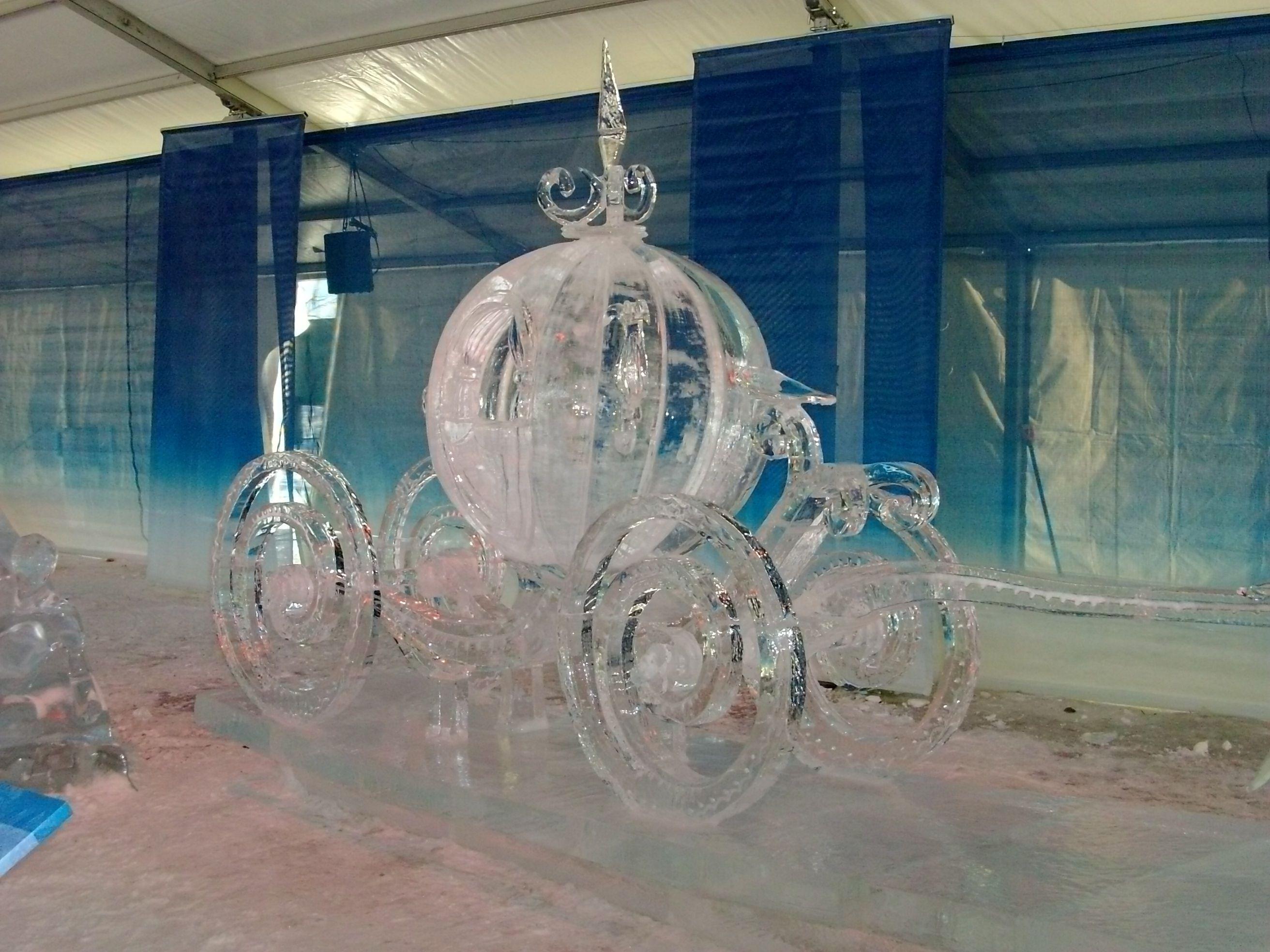 Cinderella Pumpkin Ice Carving