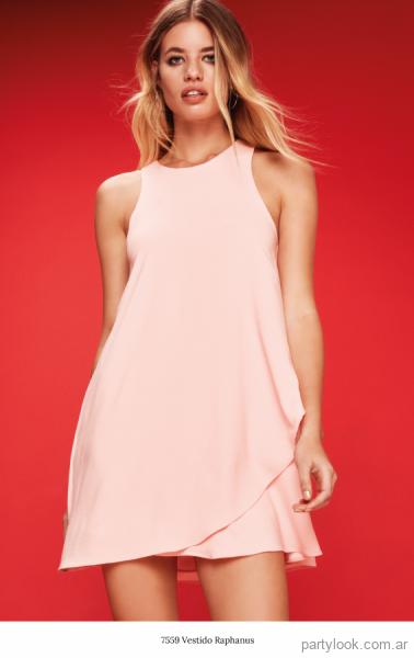 10b37fe2e vestido corto rosa claro verano 2018 - MAB
