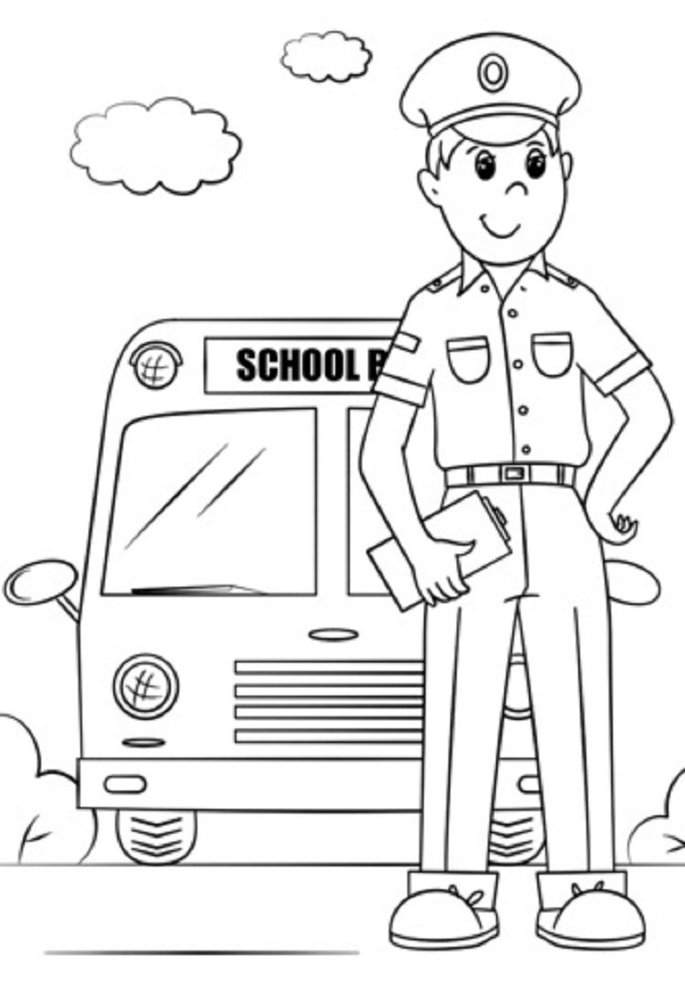 Bus Driver Coloring Pages Bus Driver Coloring Pages