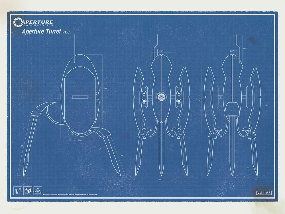 Portal Turret - Blueprint Mech \ Armor Suits Pinterest - new blueprint 2 on itunes