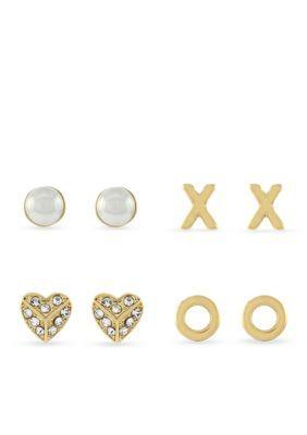 Jessica Simpson  Gold-Tone Stud Earrings Set