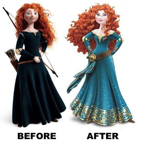 Disney Cartoon Princesses with Merida | Disney\'s Princess Makeover ...