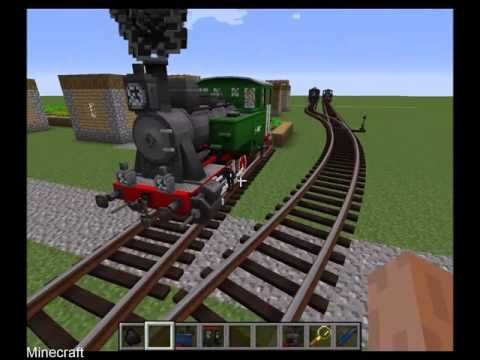 Minecraft - Rails of War mod, TRAINS!!! - YouTube | SpongeBob
