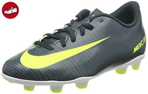 Nike Unisex-Kinder JR Mercurial Vortex Iii CR 7 FG Fußballschuhe, Schwarz  (Seaweed
