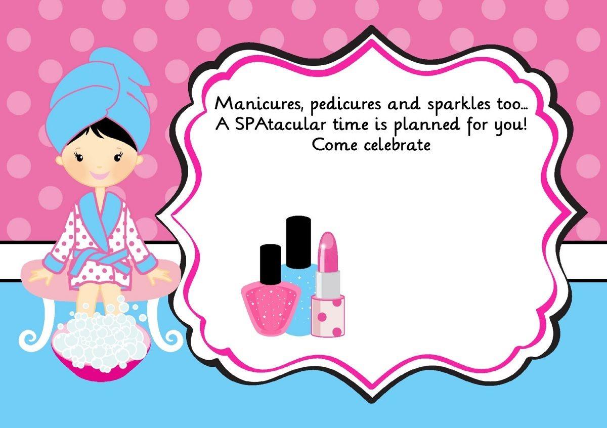 Invite Black Hair Spa De Niños Cumpleaños De Spa Y