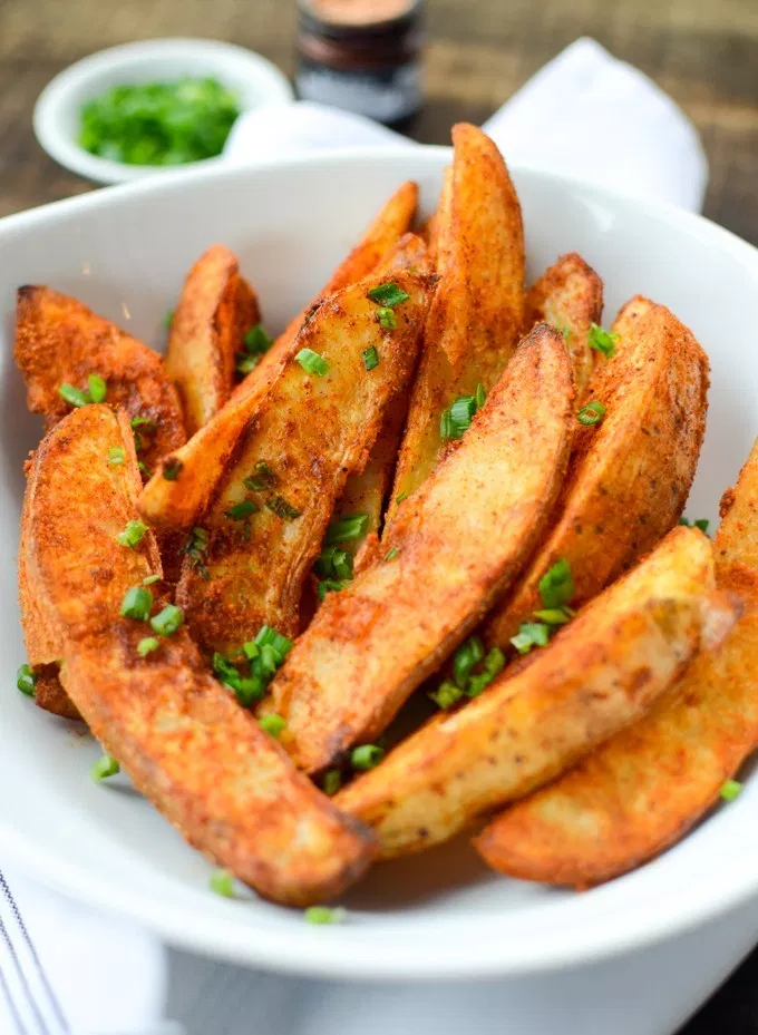Air Fryer Spiced Potato Wedges Recipe Potato wedges