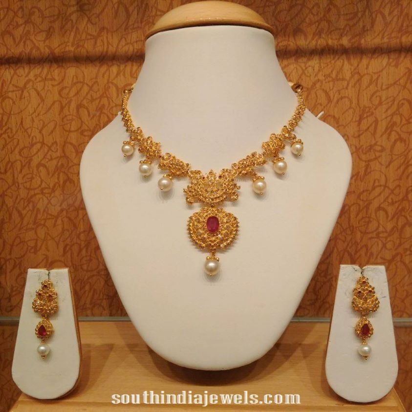 9340abf9feb Light weight pearl necklace from NAJ | Necklace Collections | Gold ...