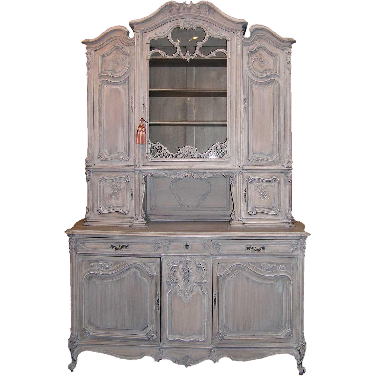 French Louis XV Style White Washed Walnut Three Part Buffet Shoprubylux EronJohnsonAntiques Dining TableDining