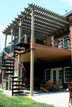 Modern Old Deck Design Ideas Pictures Remodel And Decor Staircase Outdoor Exterior Stairs Deck Designs Backyard