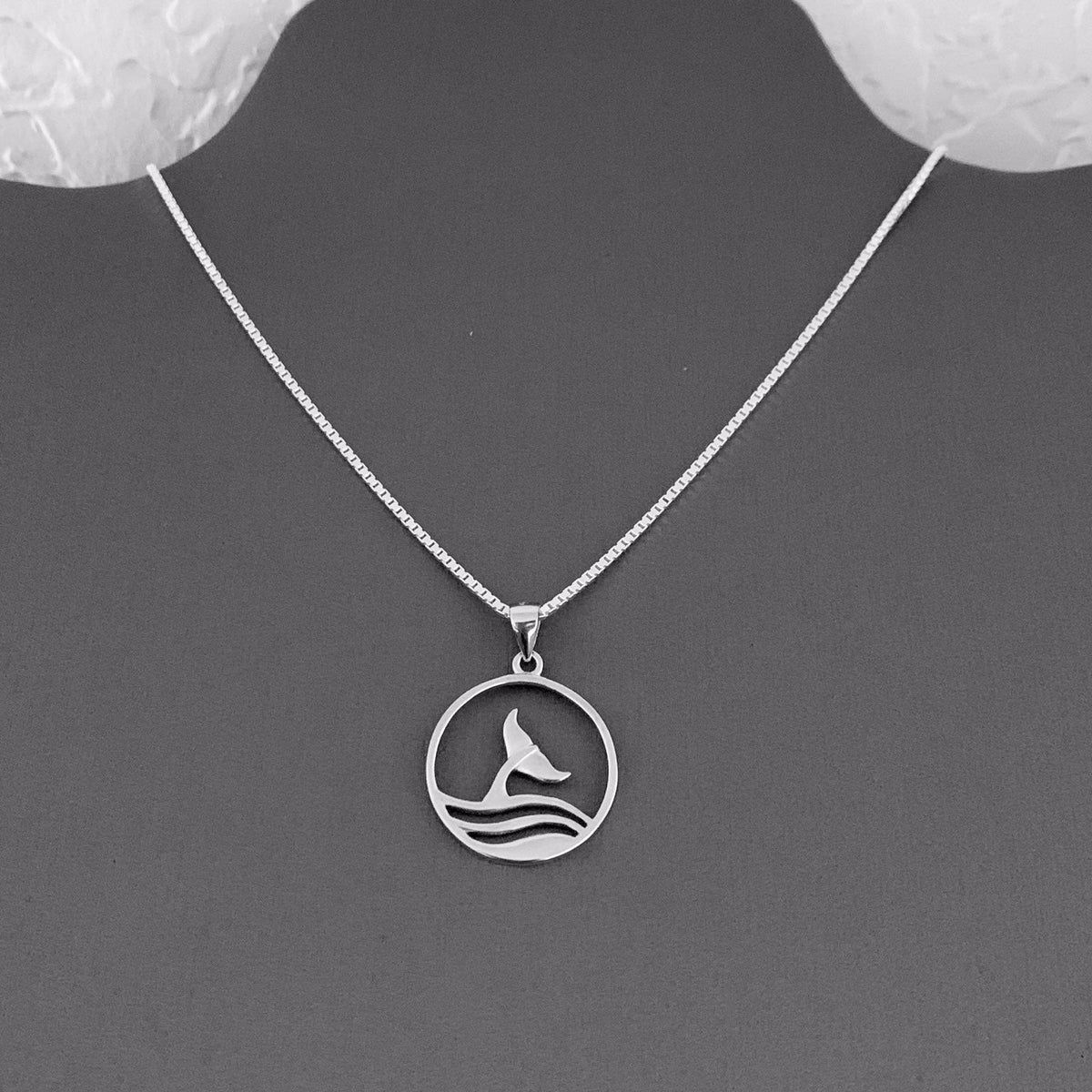 Whale charm pendant solid Sterling Silver new with or without a chain.