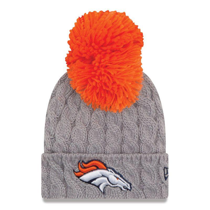 promo code 0103b 3da33 Denver Broncos New Era Infant Pom Quad Knit Beanie - Gray