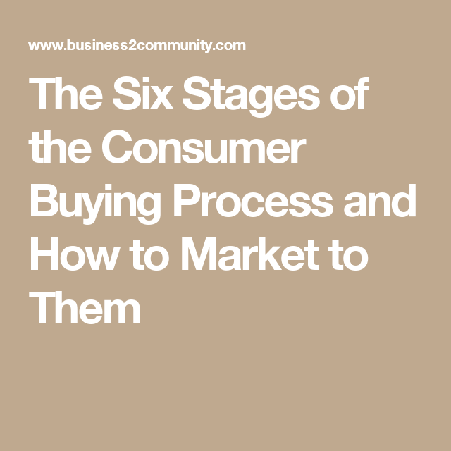stages of consumer buying process
