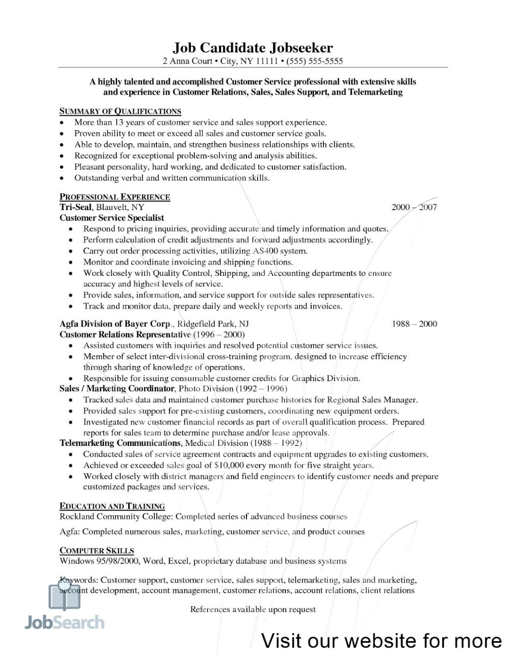 great customer service resume examples 2020 in format for hotel chef call center objective best free professional cv template word