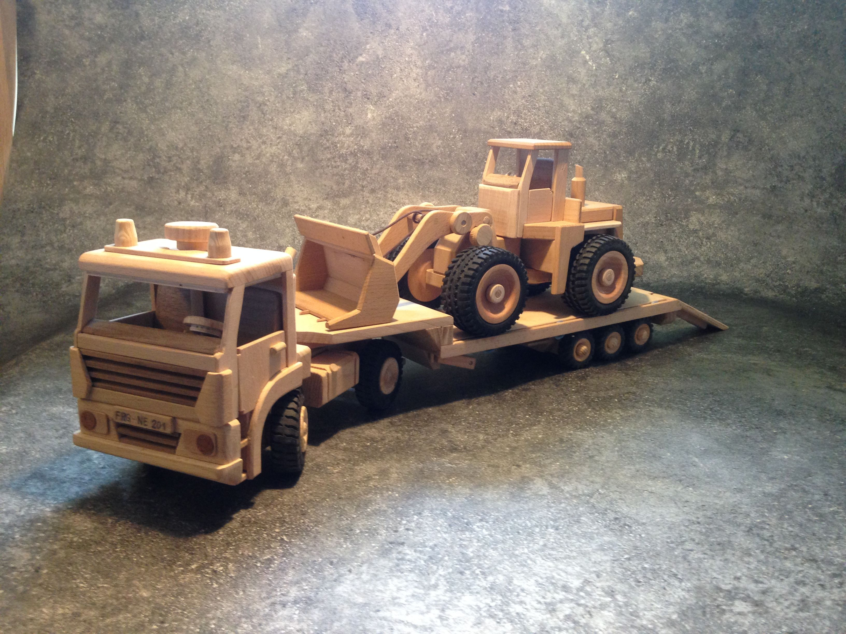 Holz Lkw Tieflader Wooden Toys Wooden Toy Car Toys