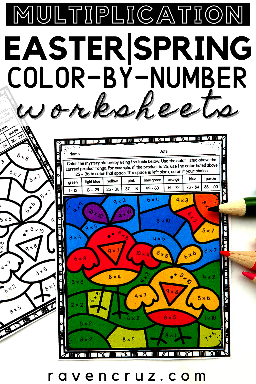 Easter Multiplication Color By Number In 2021 Multiplication Elementary Math Centers Math Activities [ 1500 x 1000 Pixel ]