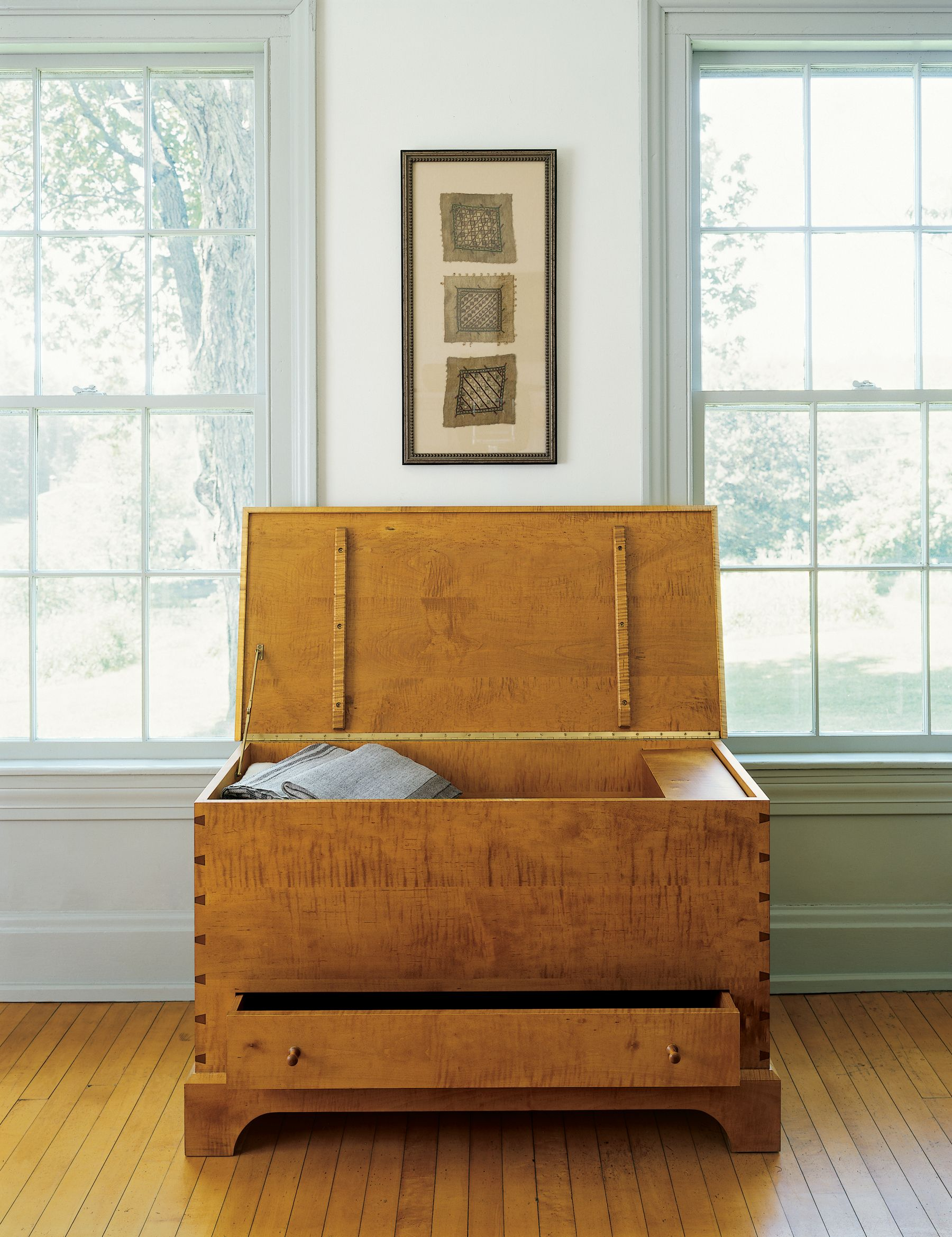 BLANKET BOX by Thos. Moser | This contemporary version of a country classic is one of our #MoserFavs and makes a great future family #heirloom to fill with family treasures: http://www.thosmoser.com/product/198/blanket_box/