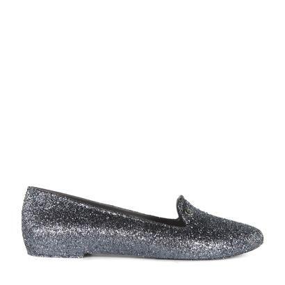 eecd90a6092 Vivienne Westwood Melissa Virtue Special Gunmetal Grey Glitter Slipper Shoes