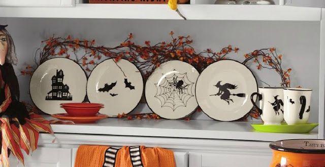 Decorated Chaos Diy Halloween Plates Halloween Plates Halloween Dinnerware Halloween Crafts Decorations