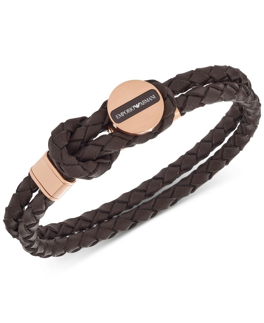 a991fef2f Emporio Armani Men's Double Layer Braided Bracelet EGS2178   Amore ...