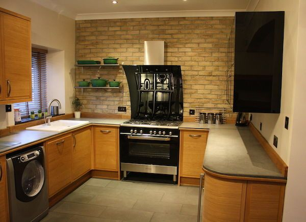 Kitchen Tiles London london stock brick slips used to create a fantastic kitchen