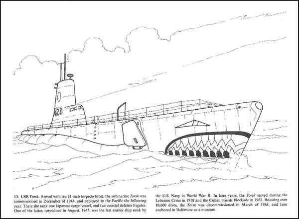 World War II Warships Coloring Book (031673) Images - Rainbow ...