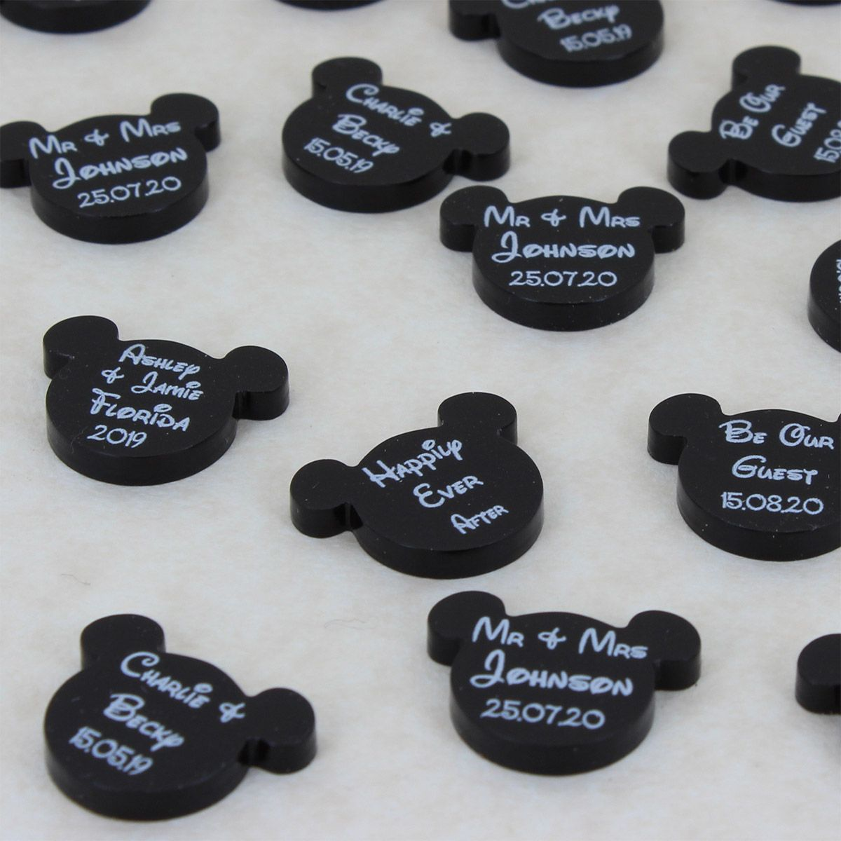 Disney Style Mickey Mouse Head Wedding Favours Personalised Mr & Mrs ...
