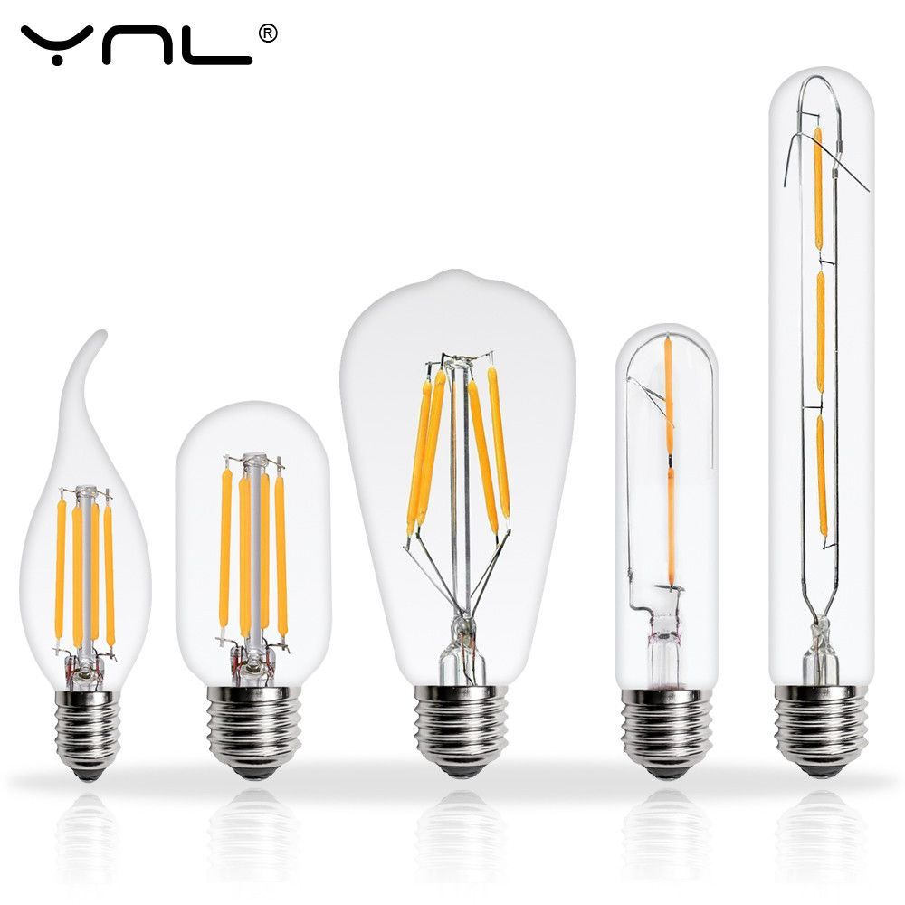 Ynl Lampada De Led Edison Bulb E27 E14 220v 2w 4w 6w 8w Bombillas
