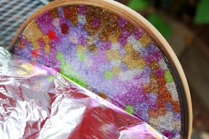 Melted Bead Stained Glass Suncatchers 27