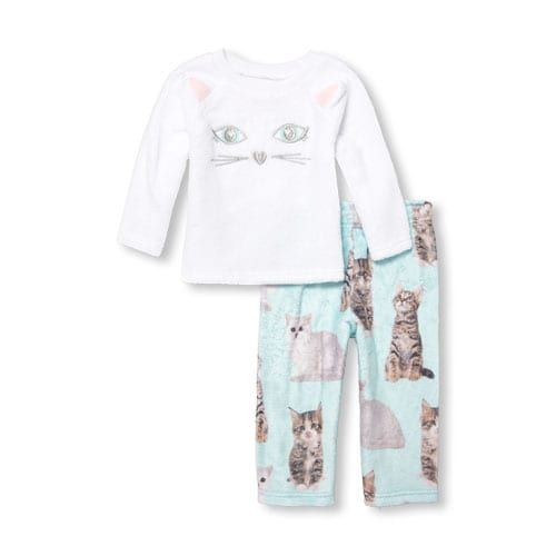 81f5c27e1 Baby And Toddler Girls Matching Family Long Sleeve Kitty Top And ...