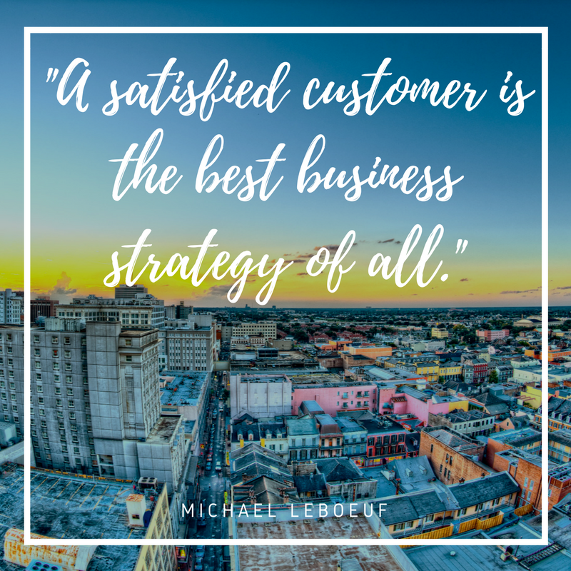 """#MondayMotivation: """"A satisfied customer is the best business strategy of all."""" - Michael LeBoeuf #quote #motivationmonday #quoteoftheday"""