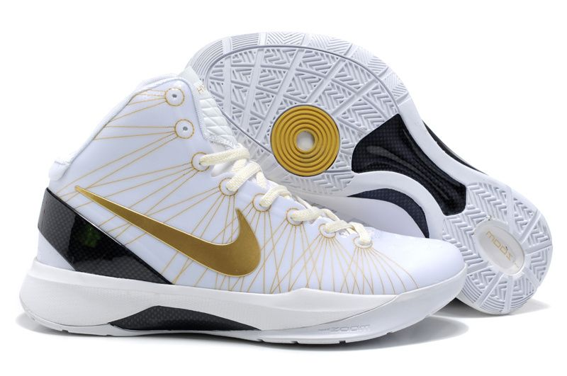 Blanc / Or Nike Zoom Hyperdunk Griffin Elite