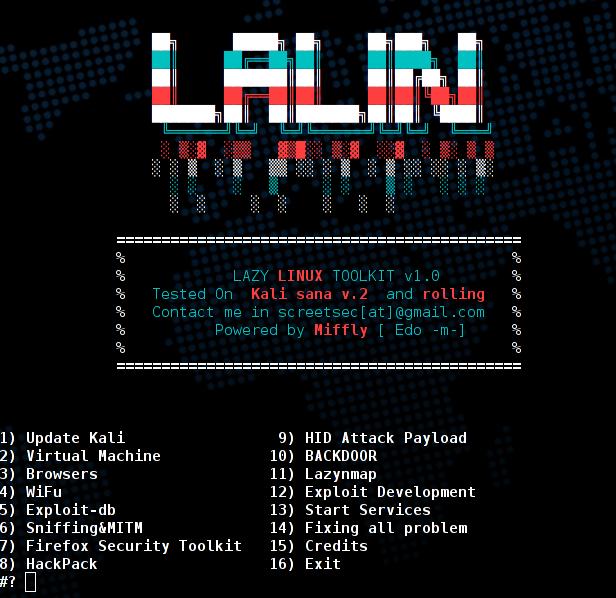Lalin un hackpack y herramientas de Kali para vagos #seguridad #noticias